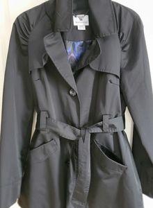 Single breasted black trenchcoat